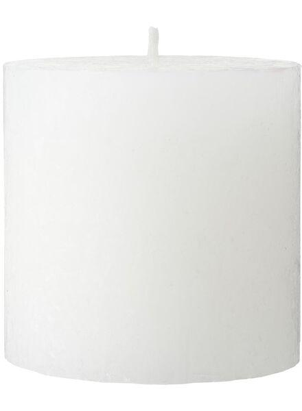 rustieke kaars - 10 x 10 cm - wit wit 10 x 10 - 13502253 - HEMA