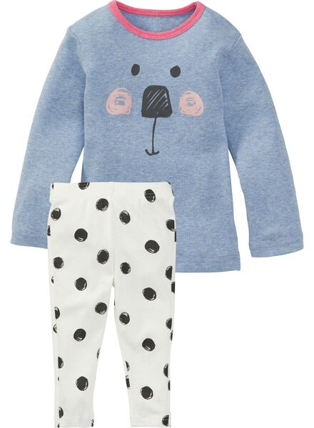baby meisjes pyjama blauw blauw - 1000004992 - HEMA