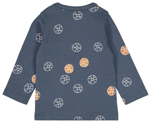 baby t-shirt streep blauw 86 - 33106045 - HEMA