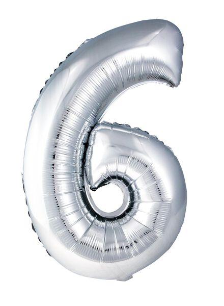 XL folie ballon cijfer 6 - 60800158 - HEMA