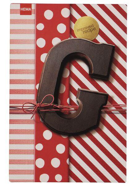 chocoladeletters puur - 160 gram puur - 1000016870 - HEMA
