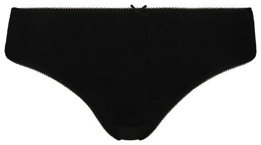 3-pak damesstrings zwart/wit zwart/wit - 1000018552 - HEMA