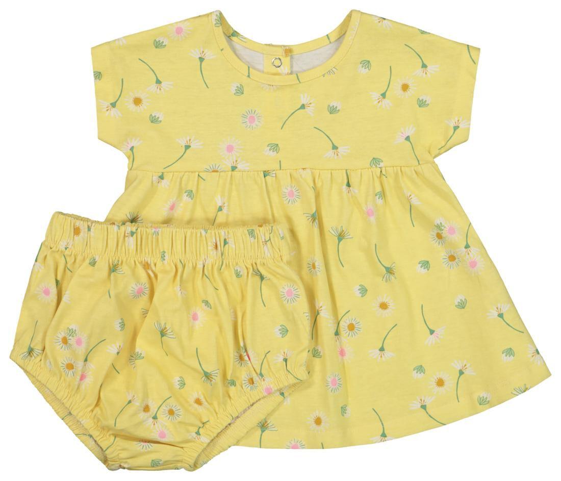 HEMA Newborn Set - Tuniek En Broek Geel (geel)