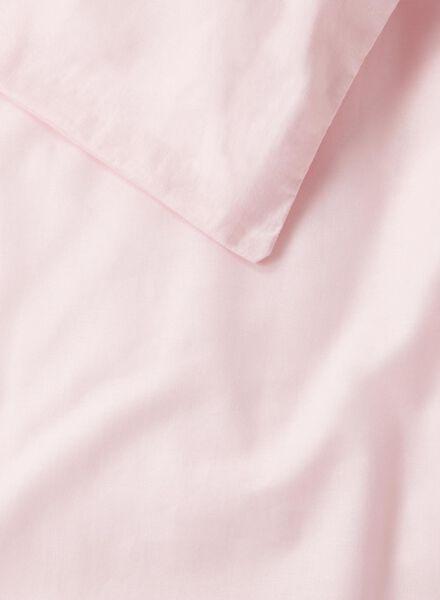 dekbedovertrek - zacht katoen - 240 x 220 cm - roze - 5700139 - HEMA