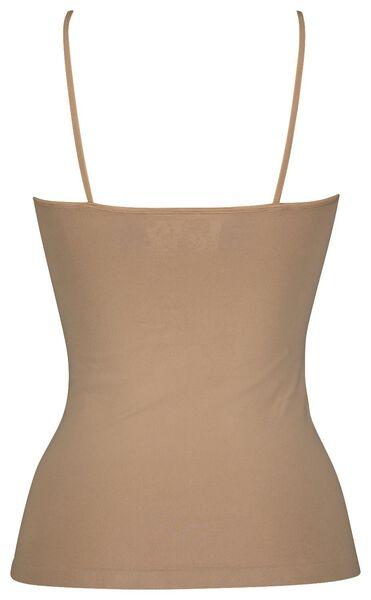 dameshemd naadloos micro beige M - 19653232 - HEMA