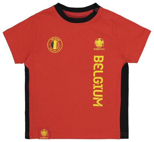EK voetbal baby t-shirt en short rood rood - 1000019567 - HEMA