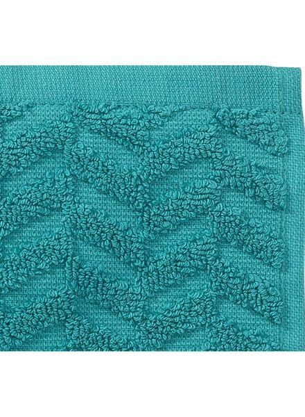 handdoek - 50 x 100 cm - zware kwaliteit - donkergroen zigzag - 5240201 - HEMA