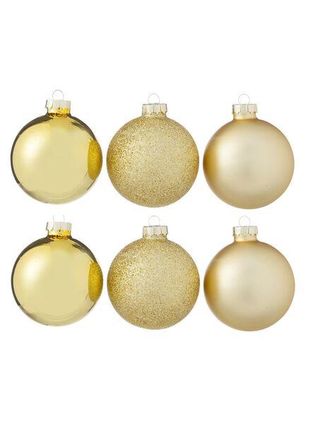 6-pak glazen kerstballen - 25100701 - HEMA
