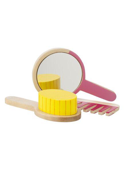 houten speelgoed haarset - 15110240 - HEMA