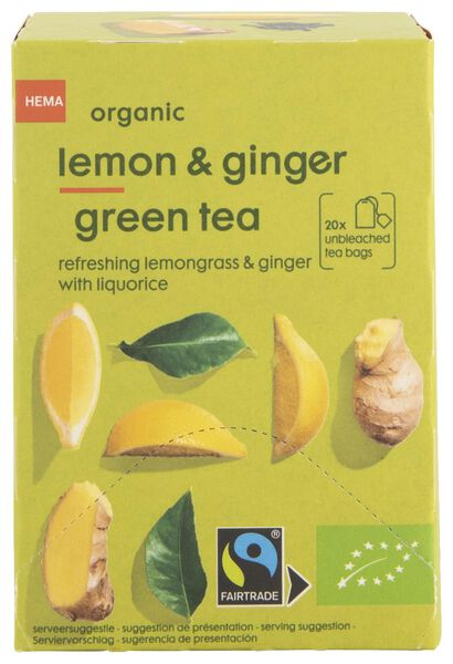 thee bio citroen & gember 20 stuks - 17190002 - HEMA