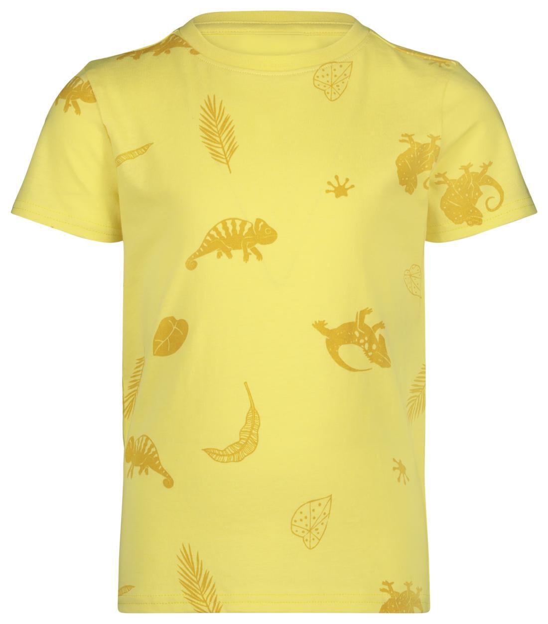 HEMA Kinder T-shirt Hagedis Geel (geel)