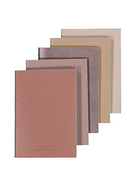 B.A.E. notitieboekjes - 5 stuks - 14580015 - HEMA