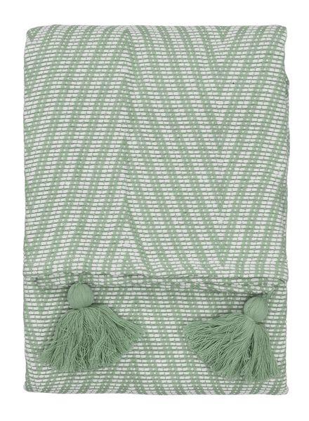 plaid 130 x 150 cm groen - 7391023 - HEMA