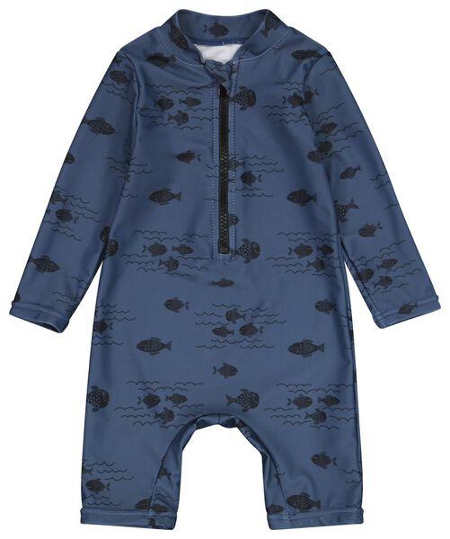 baby zwempak UV-beschermend vissen blauw 86/92 - 33212623 - HEMA