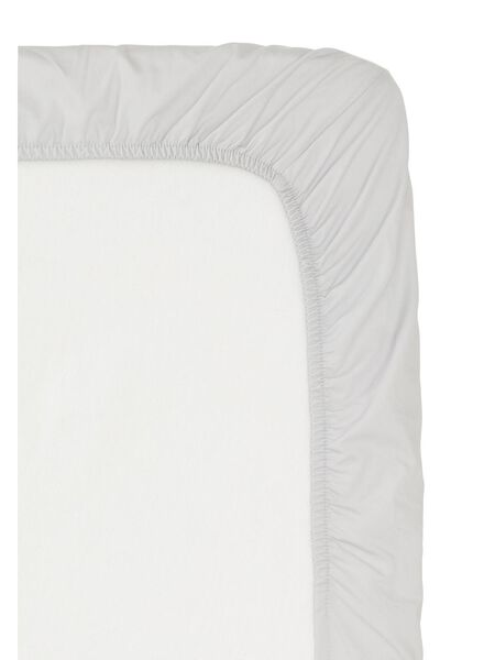 hoeslaken - hotel katoen percal - 180 x 220 cm - lichtgrijs - 5150021 - HEMA