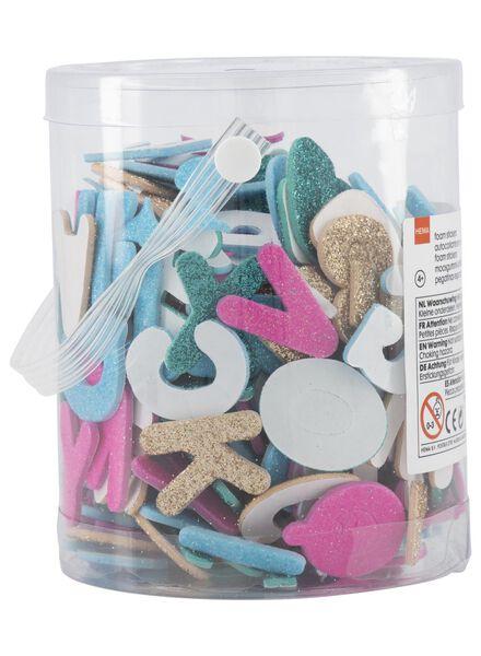 foam glitterstickers letters en cijfers - 15920045 - HEMA