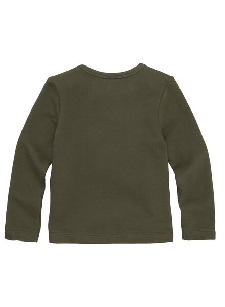 kindersweater olijf olijf - 1000011373 - HEMA
