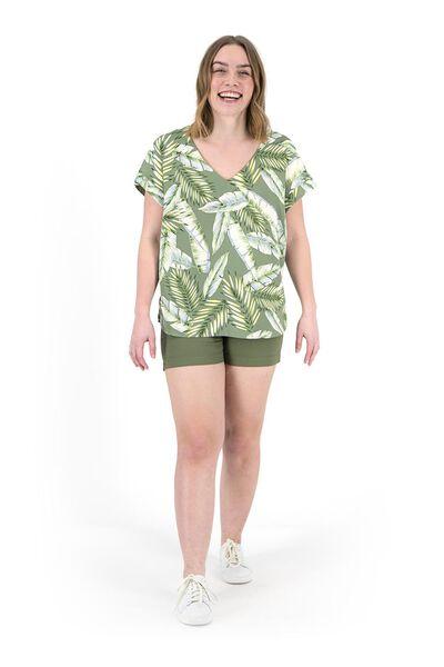 dames top groen groen - 1000019492 - HEMA