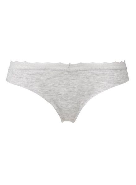 damesstring katoen grijsmelange grijsmelange - 1000013170 - HEMA