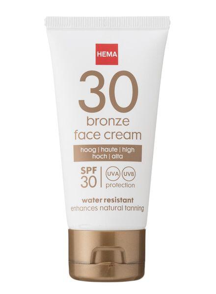 bronzing gezichtszonnecrème SPF 30 - 11610127 - HEMA