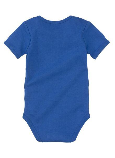 babyromper felblauw felblauw - 1000005381 - HEMA
