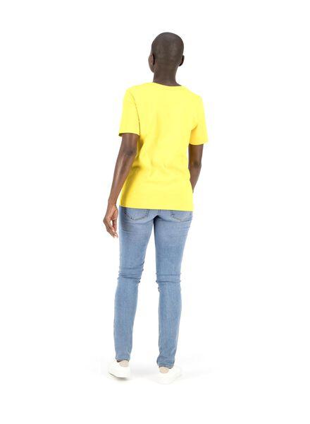 dames t-shirt geel geel - 1000014831 - HEMA