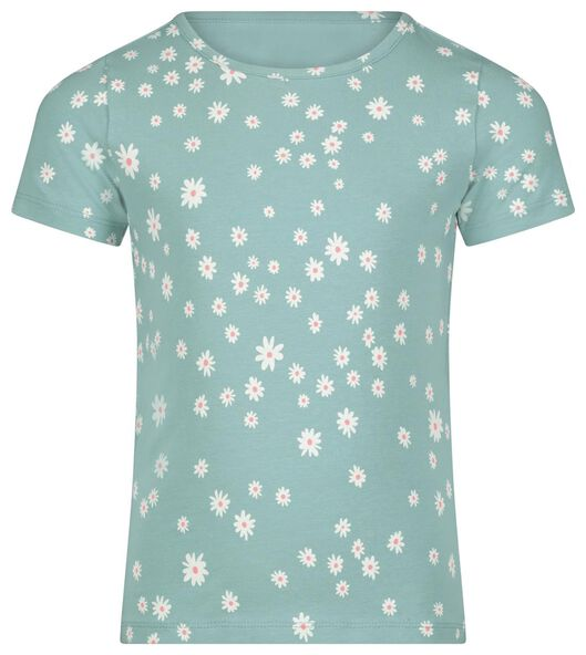 kinder t-shirt bloemen groen groen - 1000023140 - HEMA