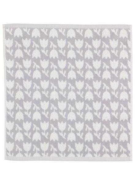 keukendoek - 50 x 50 - katoen - wit/grijs bloemen - 5400154 - HEMA