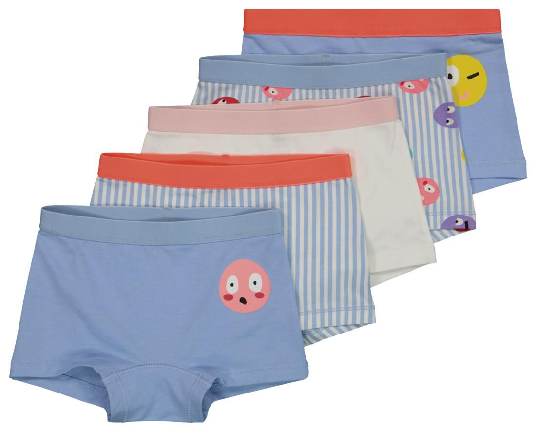 HEMA Kinderboxers Katoen/stretch Funny Faces- 5 St