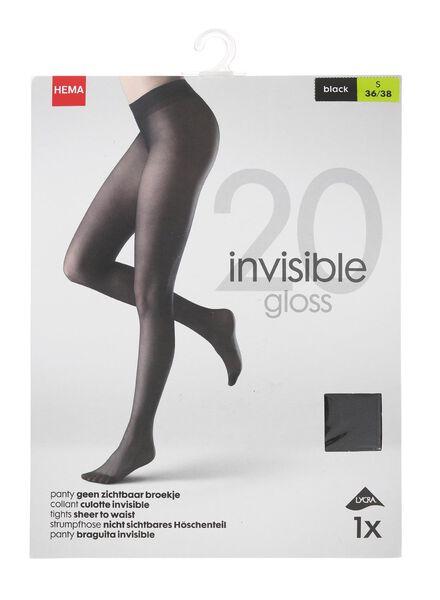 invisible panty gloss 20 denier zwart zwart - 1000000961 - HEMA