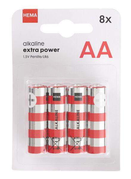 8-pak AA batterijen - 41290253 - HEMA