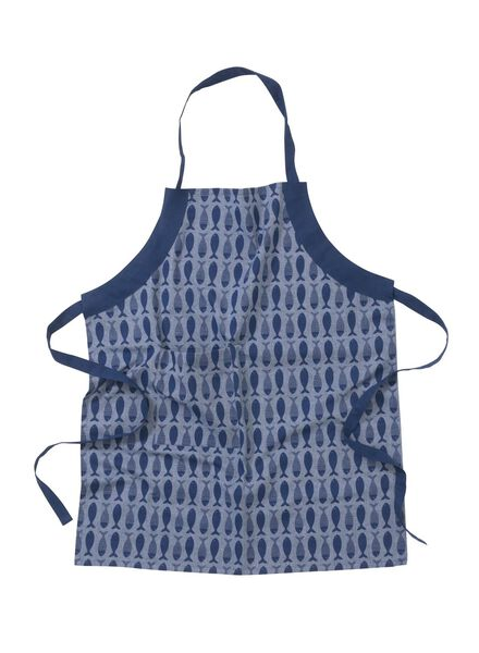 keukenschort - katoen - blauw vissen - 5400011 - HEMA