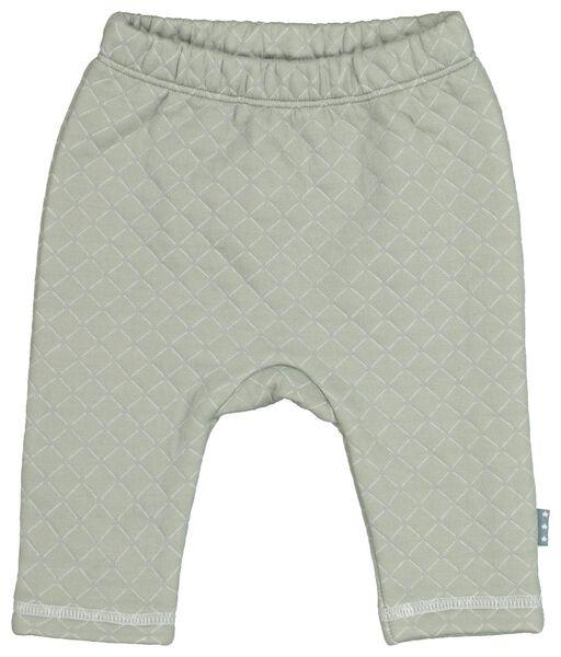 newborn sweatbroek doorgestikt groen - 1000021807 - HEMA