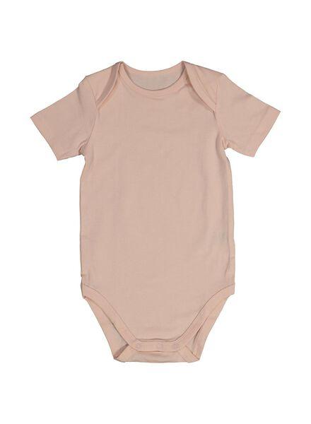 romper organic katoen stretch - 3 stuks roze roze - 1000013875 - HEMA