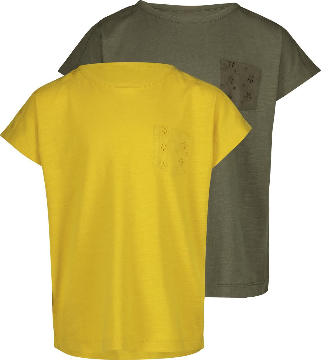 HEMA 2-pak Kinder T-shirts Geel (geel)