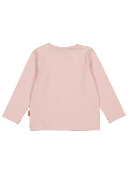 newborn t-shirt - organic katoen stretch roze roze - 1000014462 - HEMA
