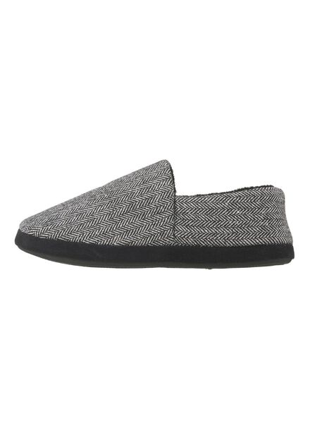 heren pantoffels zwart/wit zwart/wit - 1000009117 - HEMA