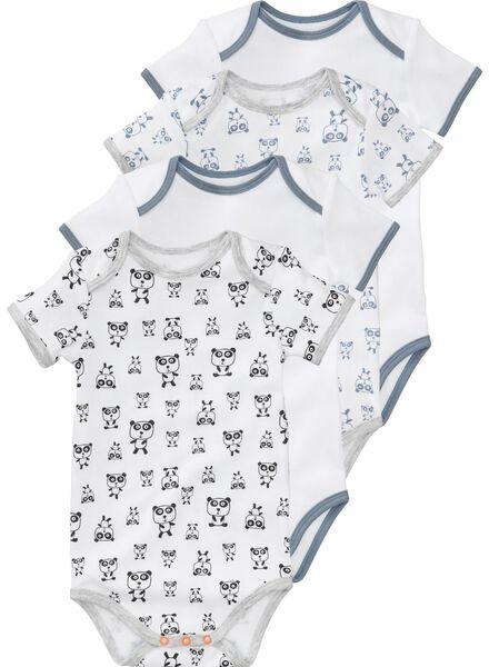 4-pak baby rompers wit wit - 1000005161 - HEMA