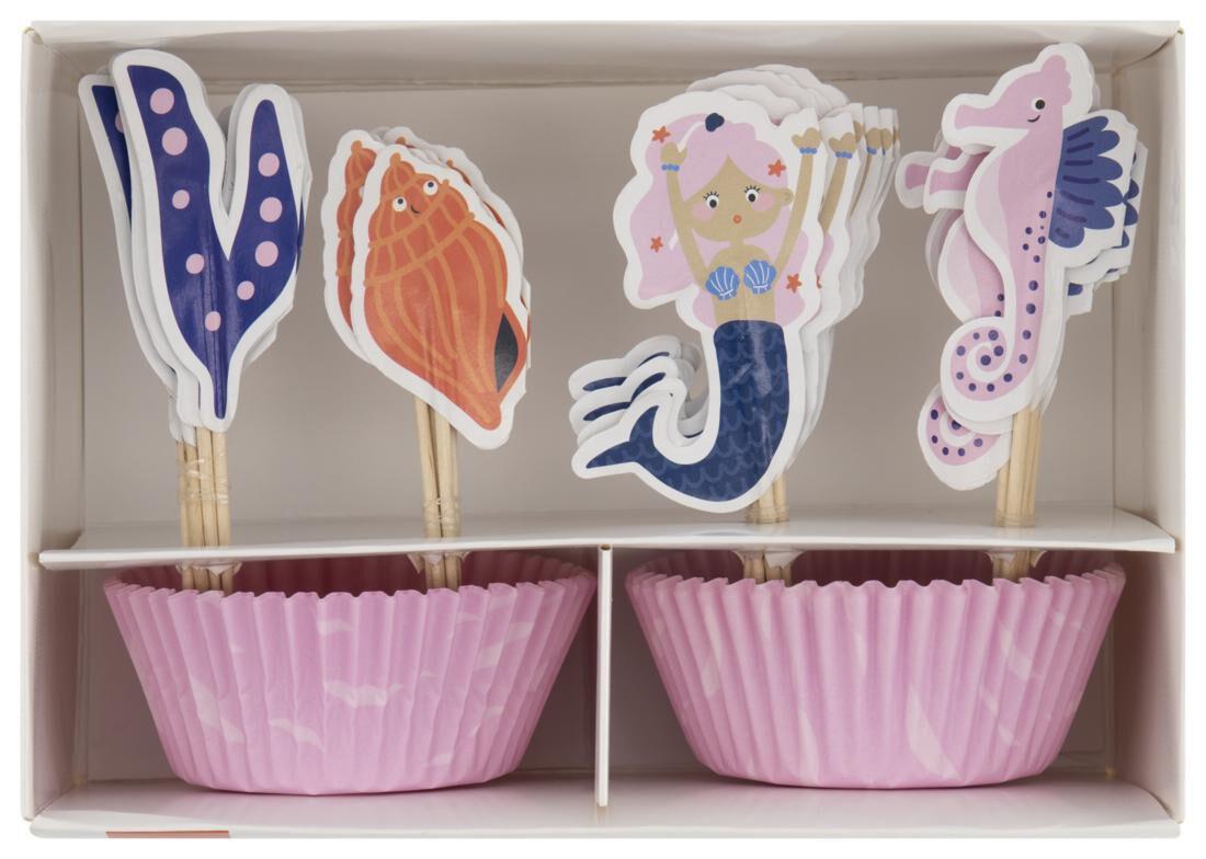 HEMA Cupcake Set - Zeepaardje - 24 Stuks
