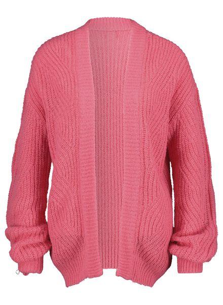 damesvest gebreid roze roze - 1000015474 - HEMA