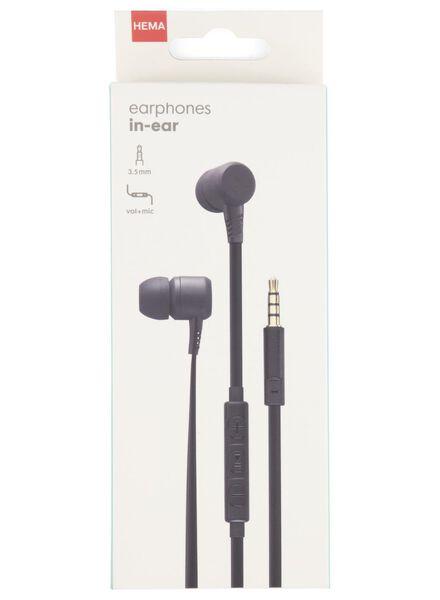 oortelefoon in-ear met microfoon- en volumeregeling - 39630078 - HEMA