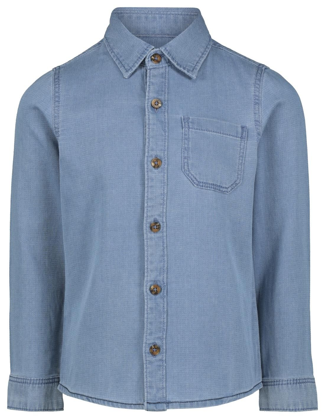 HEMA Kinderoverhemd Denim Lichtblauw (lichtblauw)