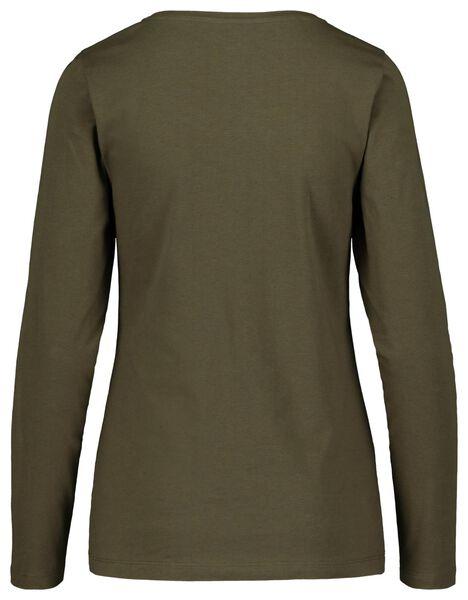 dames t-shirt olijf olijf - 1000018262 - HEMA