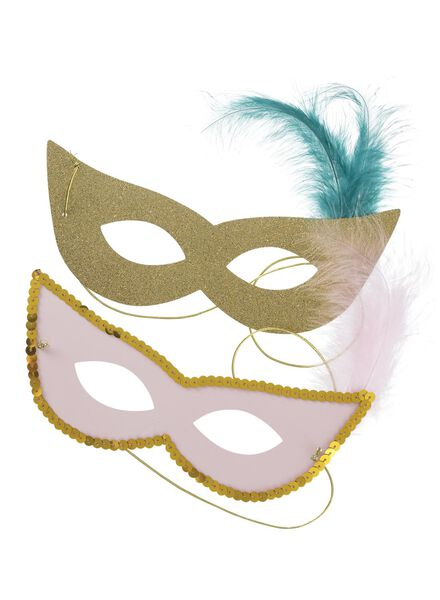 party maskers 2 stuks - 14210040 - HEMA