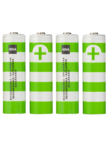 4-pak AA oplaadbare batterijen - 41210518 - HEMA