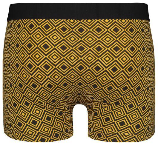 herenboxer kort katoen stretch - grafisch geel geel - 1000020824 - HEMA