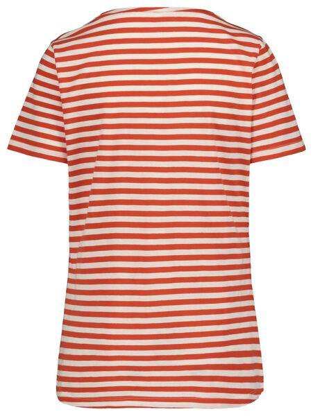 dames t-shirt rood rood - 1000019285 - HEMA