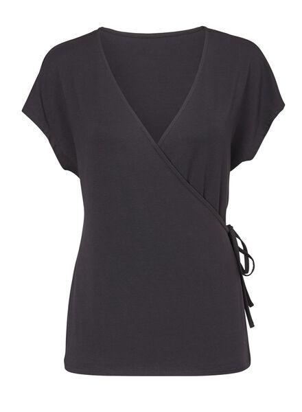 dames t-shirt zwart - 1000008649 - HEMA
