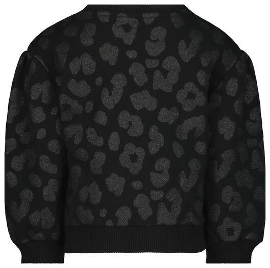 kindersweater glitter zwart zwart - 1000021867 - HEMA
