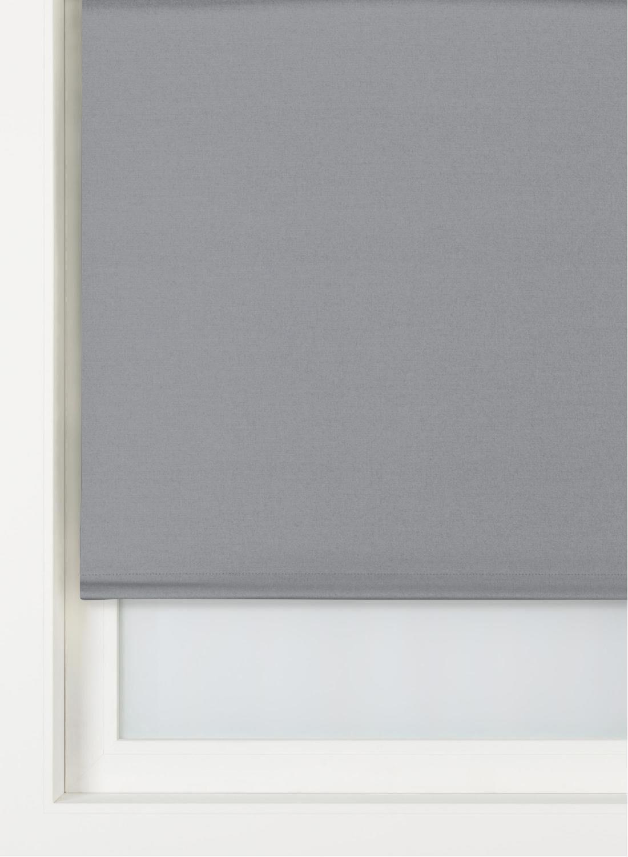 HEMA Rolgordijn Uni Verduisterend/witte Achterzijde Donkergrijs (donkergrijs)